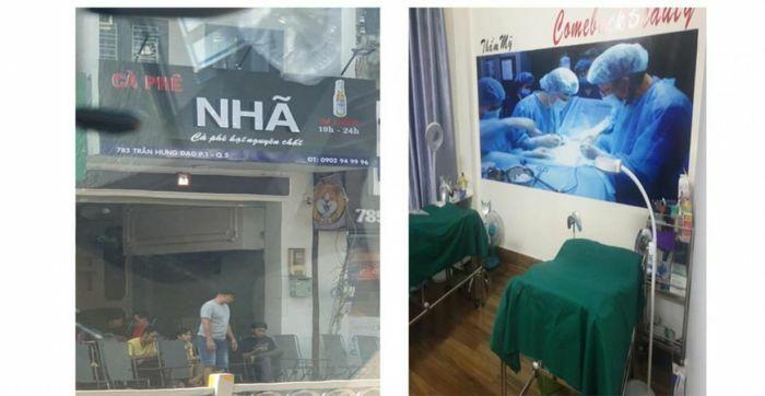 Phát hiện căn nhà kinh doanh cà phê có thêm hoạt động phẫu thuật thẩm mỹ
