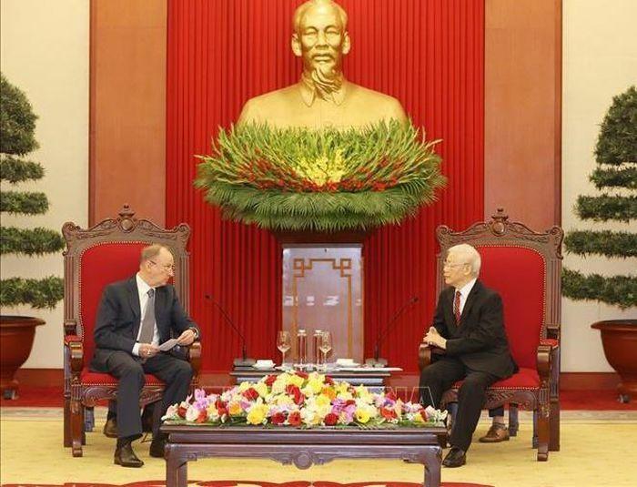 Tổng bí thư Nguyễn Phú Trọng tiếp thư ký Hội đồng An ninh Nga