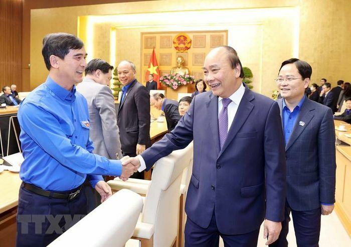 Thủ tướng Nguyễn Xuân Phúc gặp mặt cán bộ Đoàn qua các thời kỳ