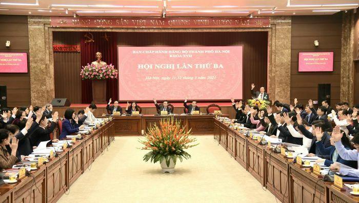 Khai mạc Hội nghị lần thứ ba Ban Chấp hành Đảng bộ thành phố Hà Nội khóa XVII