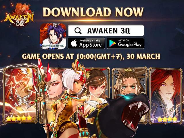 """Game thủ đã có thể tải về Awaken 3Q – Game chiến thuật Tam Quốc phát hành Global, phong cách Hàn / Nhật cực """"hack não"""""""
