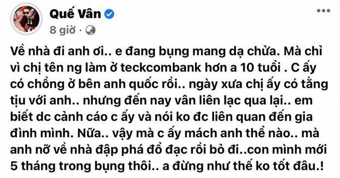 """Vừa khoe tình trẻ tặng 2 tỷ, Quế Vân đã bị cắm sừng, đập đồ vì """"trà xanh"""" hơn 10 tuổi"""