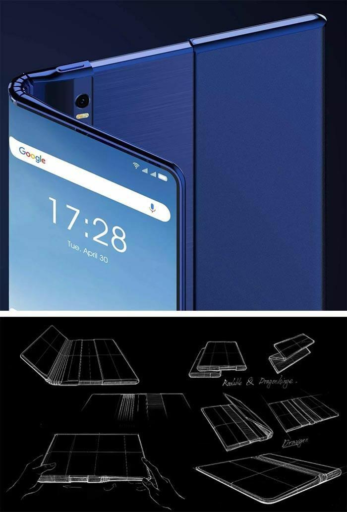 TCL thử nghiệm điện thoại với màn hình có thể gập và cuộn