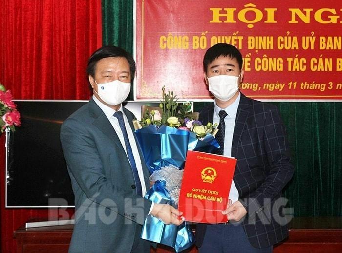 Ông Lê Hồng Diên được bổ nhiệm làm Giám đốc Sở Kế hoạch và Đầu tư Hải Dương