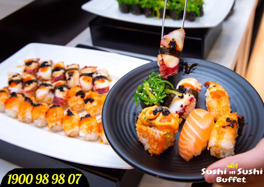 Sushi in Sushi – Buffet sushi thả ga chỉ 199.000đ