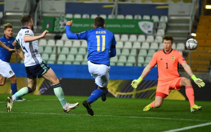 Kết liễu trong hiệp 1, ĐT Italia thắng nhẹ nhàng Bắc Ireland trên sân nhà