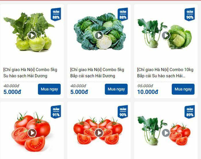 Bắp cải, cà chua 1.000 đồng/kg, ship tận bếp bà nội trợ chỉ 9 nghìn