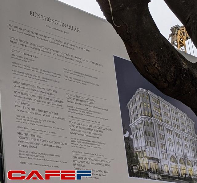 Từng có giá đền bù 1 tỷ đồng/m2, nhà phát triển khu đất 4.000m2 sát Hồ Gươm đã được chuyển giao từ Tân Hoàng Minh sang Masterise Homes