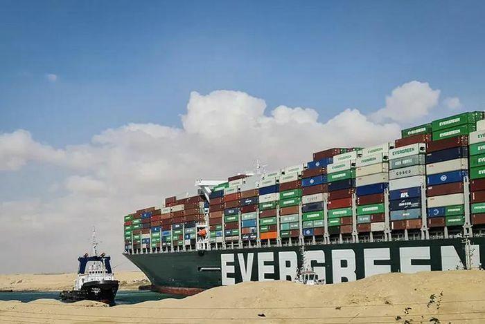 Tàu mắc cạn trên kênh đào Suez từng gây tai nạn năm 2019