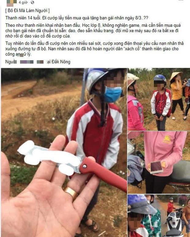 Thực hư thông tin thanh niên 14 tuổi đi cướp lấy tiền mua quà tặng bạn gái nhân ngày 8/3 xôn xao trên MXH