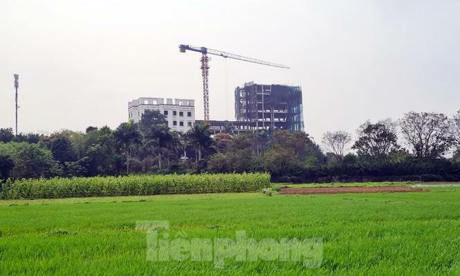 """Cận cảnh công trình cao 9 tầng """"mọc"""" trên đất trồng cây ở Sơn Tây"""