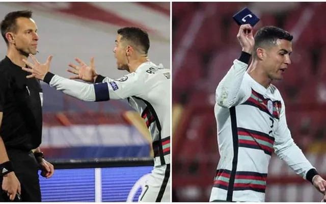 C.Ronaldo nổi khùng ném băng đội trưởng, trọng tài lên tiếng xin lỗi