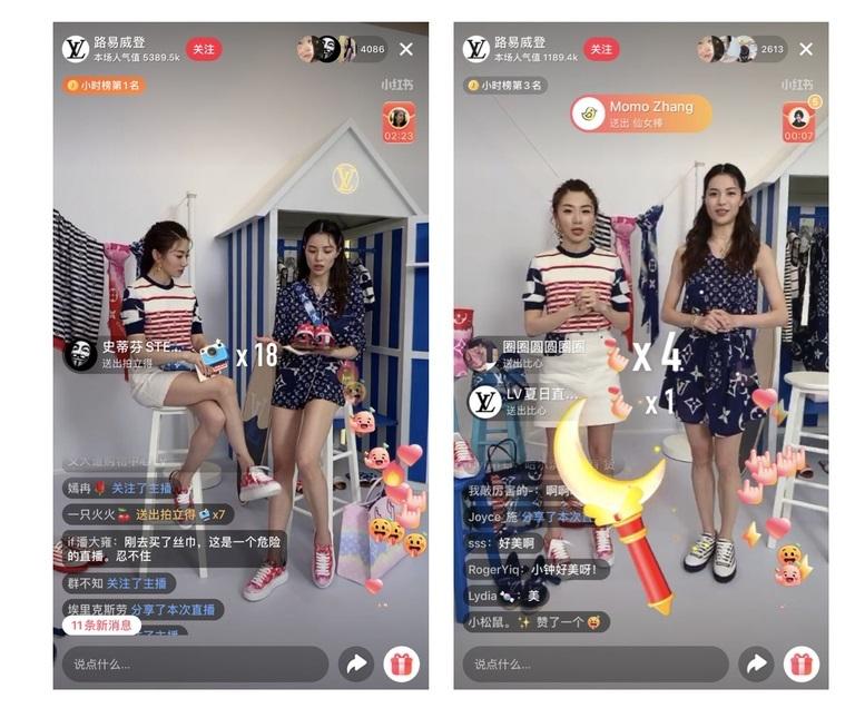 Các hãng thời trang từ bình dân đến cao cấp trong cuộc đua bán hàng livestream