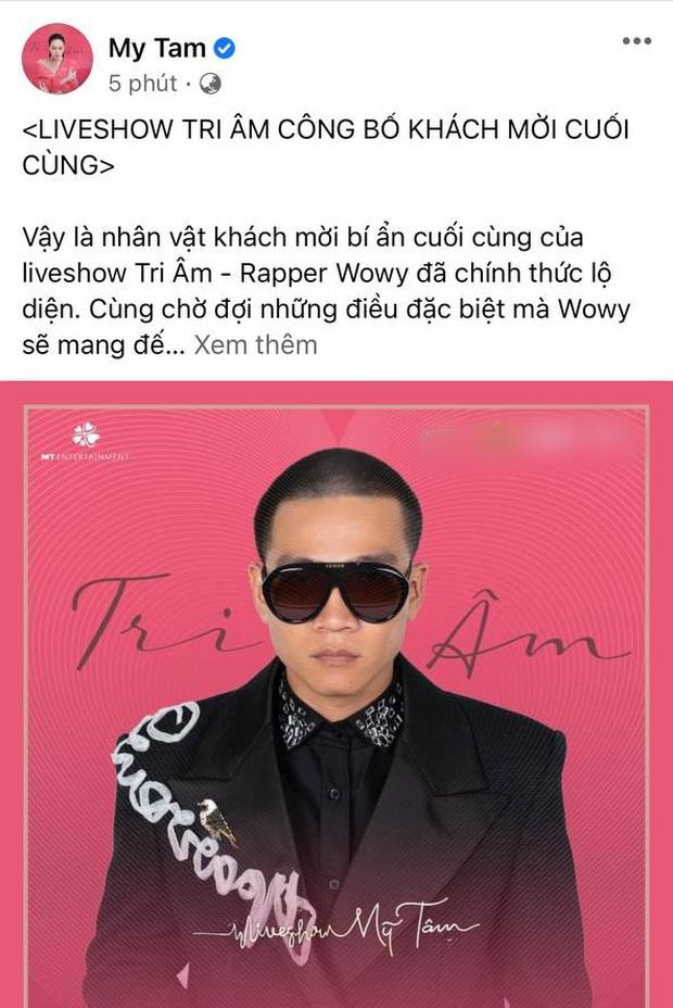 """Mỹ Tâm """"chốt"""" khách mời cuối cùng trong liveshow Tri Âm, chính là nam rapper từng gây sốt tại Rap Việt!"""
