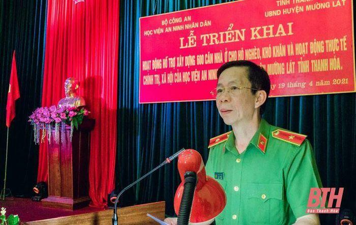Học viện An ninh Nhân dân tham gia xây dựng 600 căn nhà cho hộ nghèo huyện Mường Lát