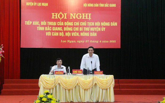 Lãnh đạo Hội Nông dân tỉnh, Huyện ủy Lục Ngạn đối thoại với cán bộ, hội viên nông dân
