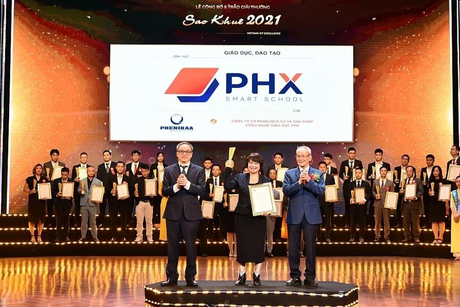 Giải pháp công nghệ của PHX Smart School đạt giải thưởng Sao Khuê 2021