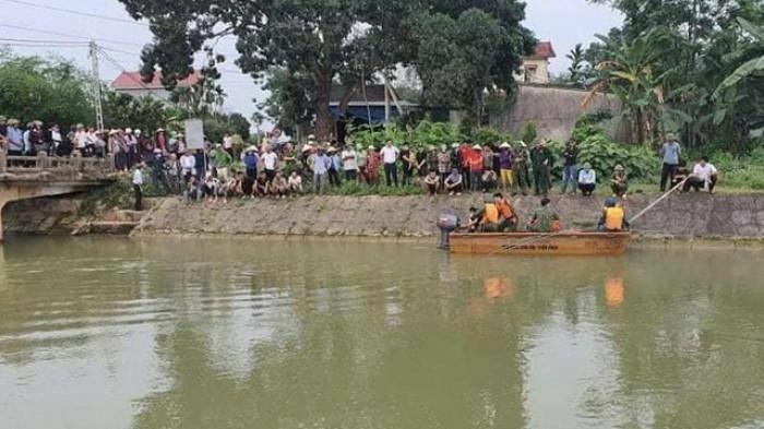 Giăng lưới tìm nam sinh Nghệ An đuối nước khi đi tắm sông Đào