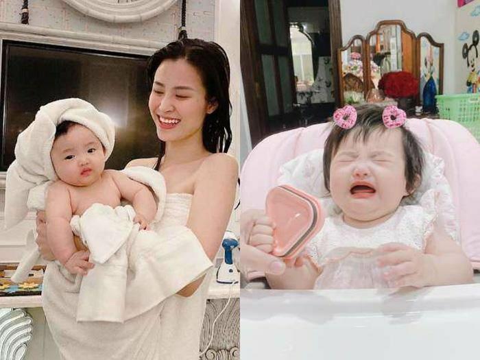 """Con gái Đông Nhi: Hơn 5 tháng tuổi đã """"phá kỷ lục"""" của mẹ, cảnh ăn vạ cũng """"bão like"""""""