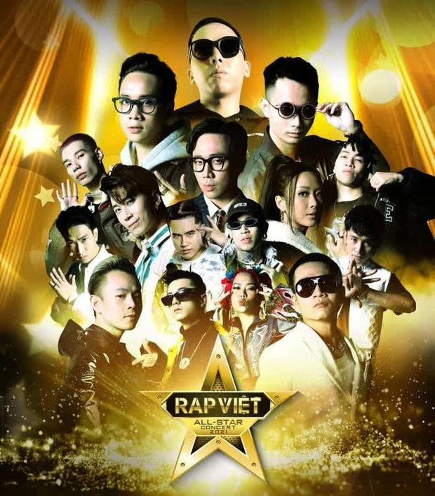 Rap Việt Concert công bố poster dàn line-up: chỉ có 8 thí sinh chung kết, những cái tên hot như 16 Typh, Yuno Bigboi… sẽ vắng mặt?