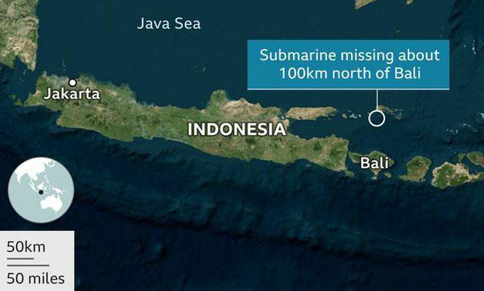 Nỗ lực tìm kiếm tàu ngầm Indonesia mất tích