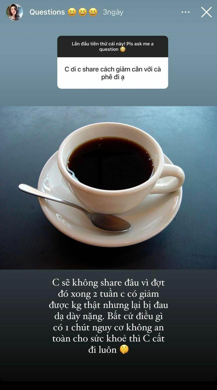 Bảo Thy cảnh tỉnh fan hâm mộ tác hại của việc siết cân bằng cà phê