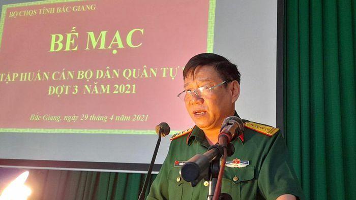 Bắc Giang: Nâng cao trình độ cho cán bộ dân quân tự vệ