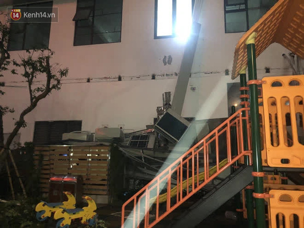 Vụ cả giàn điều hòa chung cư đổ sập xuống sân chơi trẻ em ở Hà Nội: Chủ đầu tư nói gì?