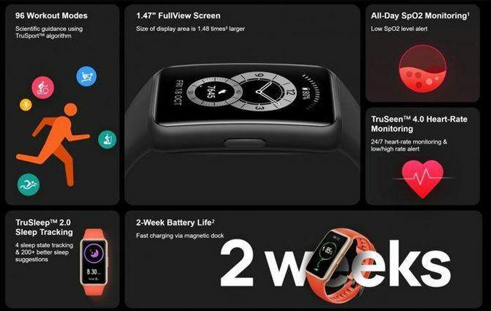Huawei Band 6 chính thức ra mắt