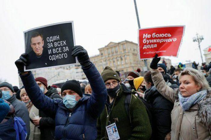 """Nga bắt giữ gần 1.500 người tuần hành """"vì Navalny"""""""