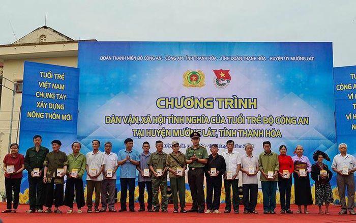 Lễ ra quân các hoạt động, an sinh xã hội của tuổi trẻ Bộ Công an