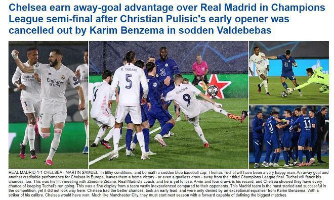 Chelsea cầm chân Real: Báo Anh khen Tuchel cáo già, sáng cửa chung kết Cúp C1