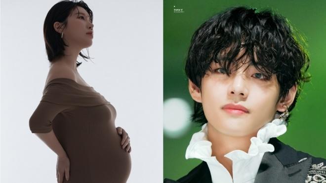 Nữ ca sĩ Hàn ngắm V BTS hàng ngày khi mang thai