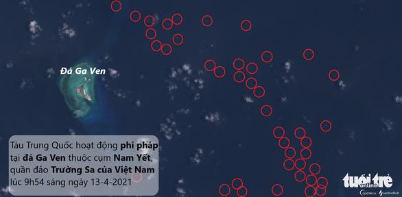 Thêm 136 tàu Trung Quốc xuất hiện ở gần đá Ga Ven, Philippines tố là tàu dân quân biển