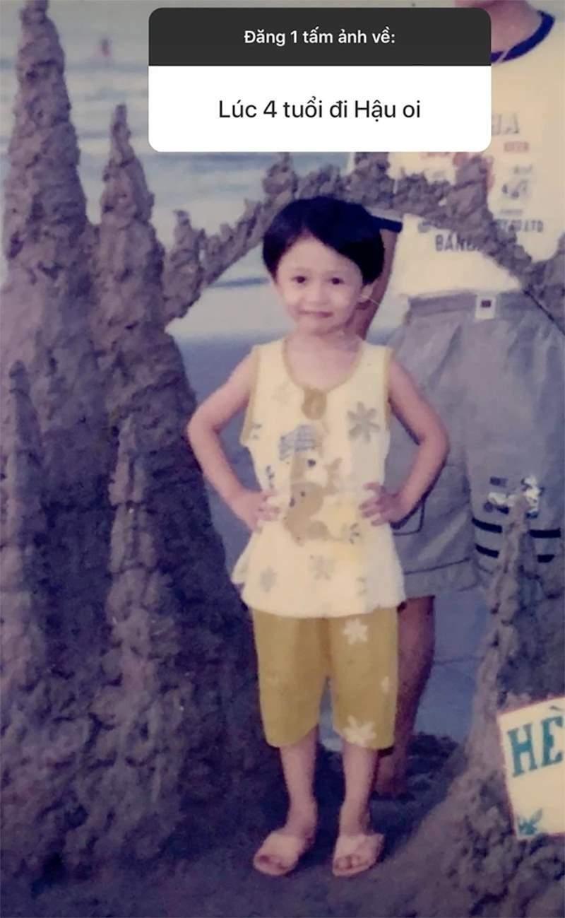 Xem ảnh Hậu Hoàng ngày bé, netizen lập tức thốt lên 'giống mũi trưởng Long quá'