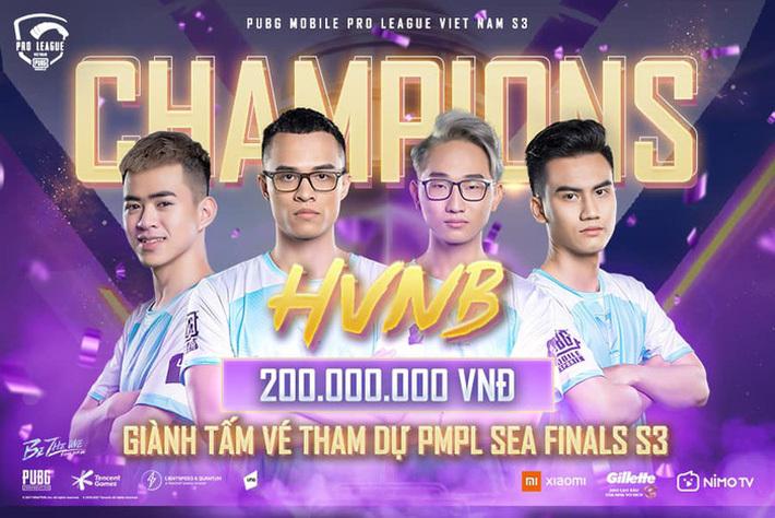 Áp đảo tại vòng chung kết, HVNB chính thức trở thành tân vương của PUBG Mobile Việt Nam, ẵm ngay 200 triệu đồng tiền thưởng