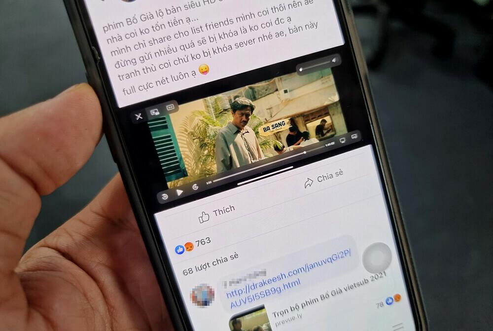"""Mời gọi xem Bố Già bản """"Full HD"""", chiêu trò mới để đánh cắp tài khoản Facebook"""