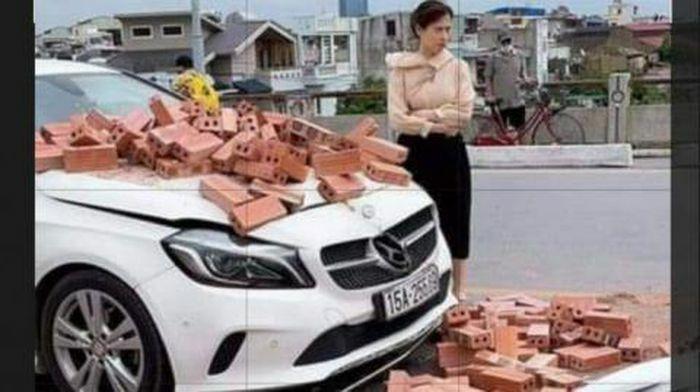 Bị đâm hỏng Mercedes, nữ tài xế không bắt đền: ''Không nỡ''