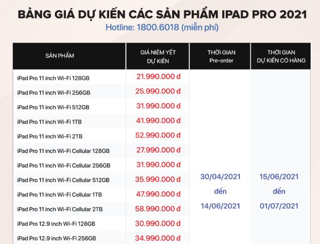 """Vừa ra mắt, bom tấn iPad Pro 2021 gây """"sốt"""" không tưởng, chốt giá """"ngon"""" tại Việt Nam"""