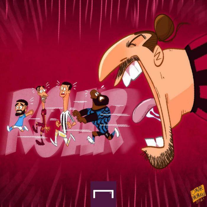 Biếm họa 24h: Ibrahimovic khiến Ronaldo, Lukaku sợ khiếp vía