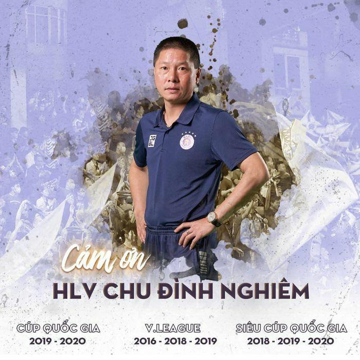 Hà Nội FC chia tay huấn luyện viên Chu Đình Nghiêm