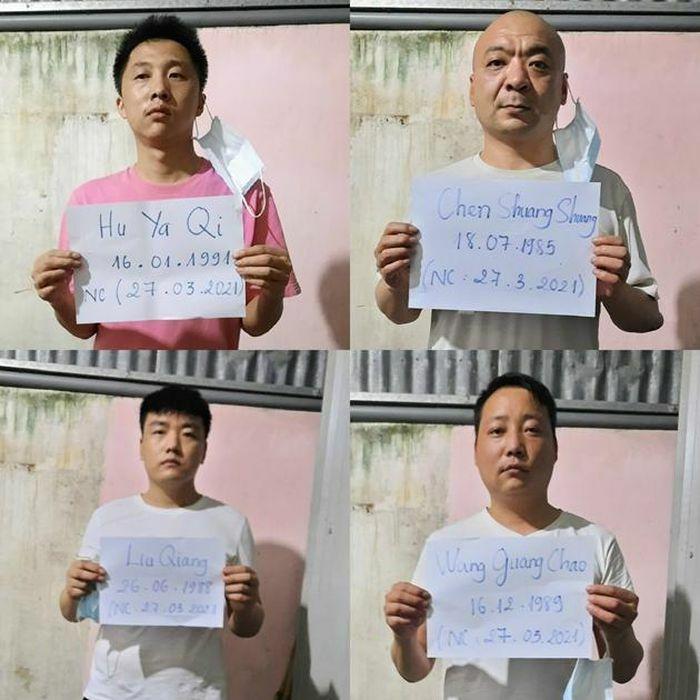 Phát hiện, bắt giữ 4 đối tượng người Trung Quốc nghi xuất nhập cảnh trái phép