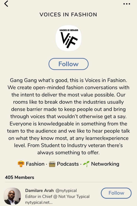 Nền tảng Clubhouse trở thành công cụ khen chê mới của ngành thời trang?