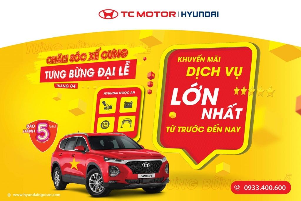 Loạt khuyến mại mừng đại lễ tại Hyundai Ngọc An