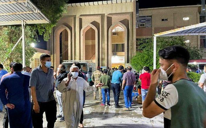 Số người thiệt mạng do cháy bệnh viện điều trị Covid-19 tại Iraq tăng lên 82 - ảnh 1
