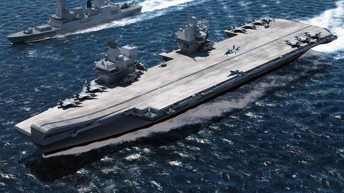 """Anh mang tàu sân bay 4,5 tỉ USD cùng nhóm tàu hộ tống """"khủng"""" đến châu Á"""