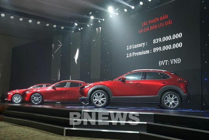 Mazda CX-30 hoàn toàn mới ra mắt thị trường có giá từ 839 triệu đồng