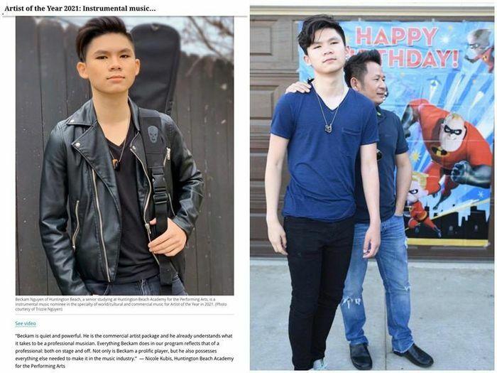 """Chân dung con trai Bằng Kiều được đề cử """"Nghệ sĩ của năm"""" ở Mỹ"""