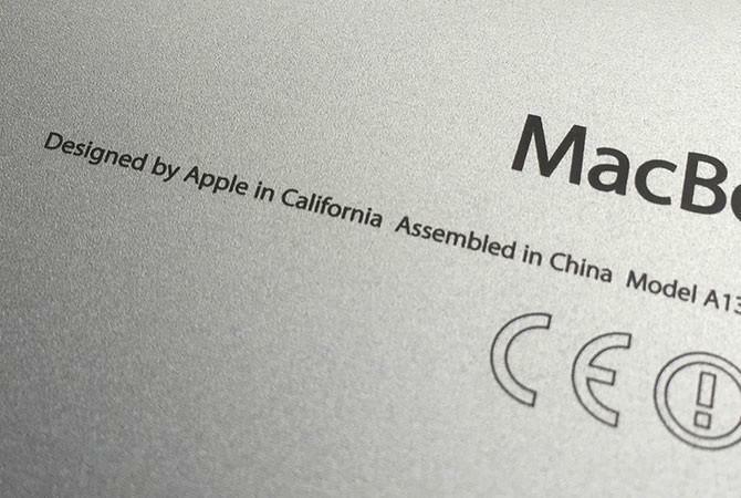"""Sản phẩm Apple sẽ không còn dòng chữ """"lắp ráp tại Trung Quốc"""""""