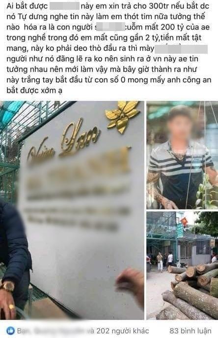 Xôn xao chủ vườn lan Hà Nội ôm 200 tỷ đồng của người mua bỏ trốn